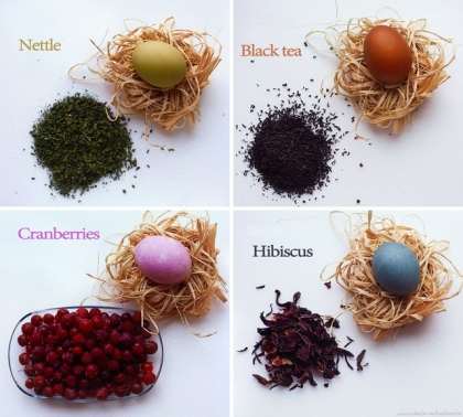 easter eggs herbs